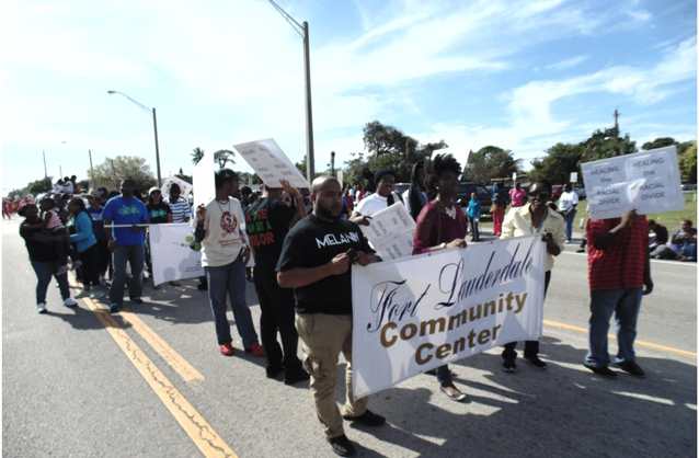 2015-Staff and Students @ MLK Parade on MLK